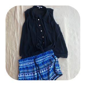 Pants - Tank Top & Shorts Outfit Juniors Small